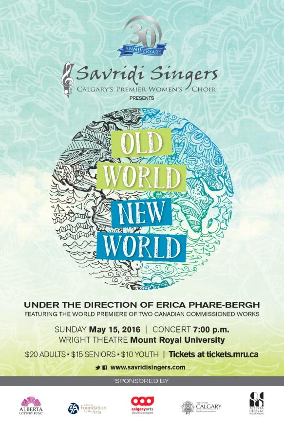 Savridi Singers Spring 2016 poster